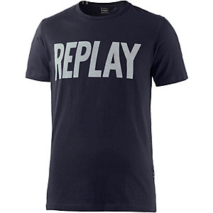 REPLAY T-Shirt Herren blau