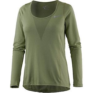Nike Laufshirt Damen oliv