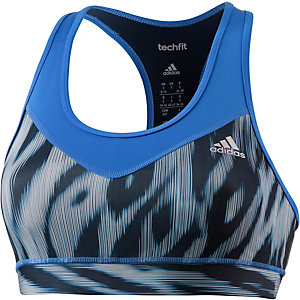 adidas Techfit Sport-BH Damen blau/navy