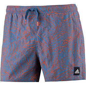 adidas Badeshorts Herren blau/koralle