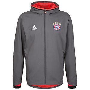 adidas FC Bayern München Trainingsjacke Herren grau / rot