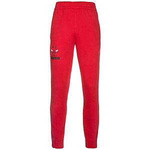 adidas Chicago Bulls Fanwear Trainingshose Herren rot / schwarz