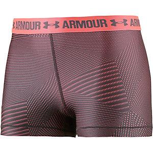 Under Armour Heatgear Funktionsshorts Damen neonorange/grau