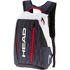 HEAD Djokovic Backpack Tennistasche schwarz/weiß