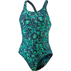 SPEEDO Rotoscope Allover Powerback Schwimmanzug Damen navy/jade
