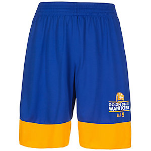 adidas Golden State Warriors Basics Basketball-Shorts Herren blau / gelb