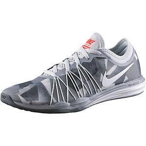 Nike Dual Fusion TR HIT Print Fitnessschuhe Damen grau/weiß