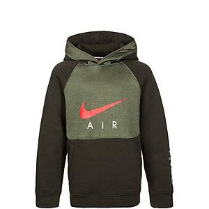 Nike Air Kapuzenpullover Kinder grün / rot