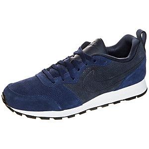 Nike MD Runner 2 Leather Premium Sneaker Herren blau