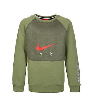 Nike Air Crew Sweatshirt Kinder grün / rot
