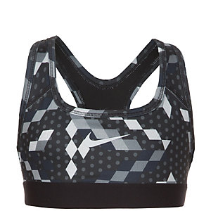 Nike Pro Sport-BH Mädchen grau / schwarz
