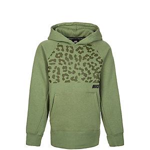 Nike Icon Kapuzenpullover Kinder grün / schwarz