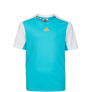 adidas Melbourne Tennisshirt Kinder türkis / orange