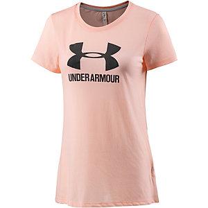 Under Armour Threadborne Train T-Shirt Damen rosa/grau