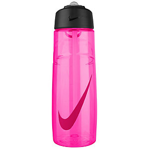 Nike T1 Flow Swoosh 24oz Trinkflasche pink / rot / schwarz