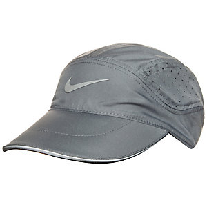 Nike AeroBill Laufmütze grau / schwarz