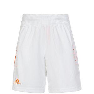 adidas Barricade Tennisshorts Kinder weiß / orange