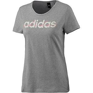 adidas T-Shirt Damen hellgrau/melange