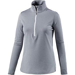 Under Armour Threadborne Run Laufshirt Damen grau/weiß