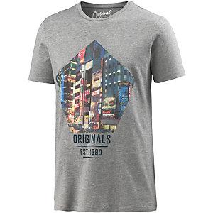 Jack & Jones T-Shirt Herren grau melange