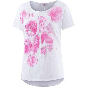 Deha T-Shirt Damen weiß/pink