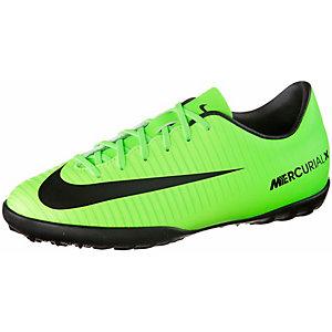 Nike JR MERCURIALX VAPOR XI TF Fußballschuhe Kinder neongrün/schwarz