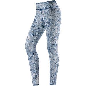Mandala Fancy Yogapants Damen blau/weiß