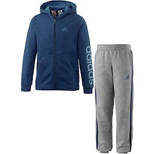adidas Trainingsanzug Jungen blau/grau