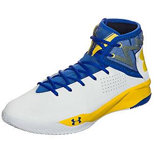 Under Armour Rocket 2 Basketballschuhe Herren weiß / blau / gelb