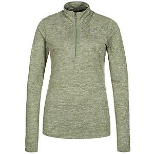 Nike Element Half-Zip Laufshirt Damen grün / grau