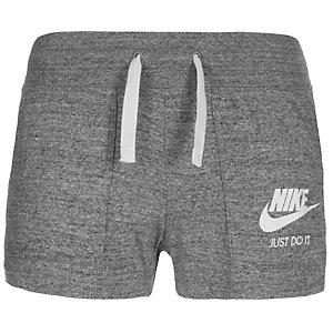 Nike Gym Vintage Shorts Damen grau / weiß