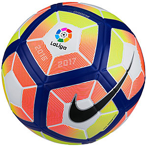 Nike Ordem 4 La Liga Matchball Größe 5 Fußball weiß / neonrot / blau