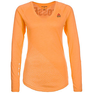 Reebok CrossFit Graphic Burnout Funktionsshirt Damen orange