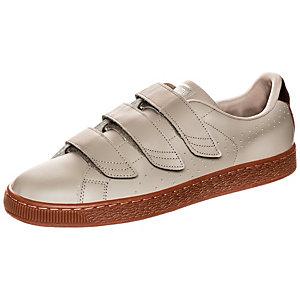 PUMA Basket Classic Strap Citi Sneaker beige / braun