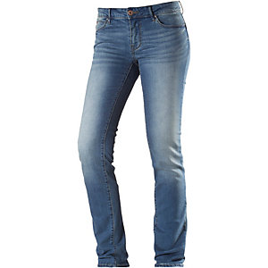Only Sisse Straight Fit Jeans Damen destroyed denim