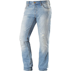 Jack & Jones Tim Straight Fit Jeans Herren destroyed denim