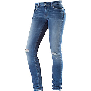 Only Carmen Skinny Fit Jeans Damen blue washed denim