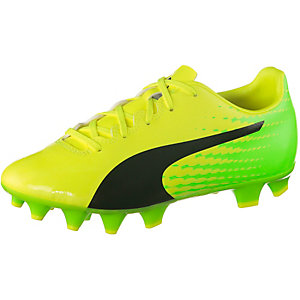 PUMA evoSPEED 17.4 FG Jr Fußballschuhe Kinder gelb/schwarz