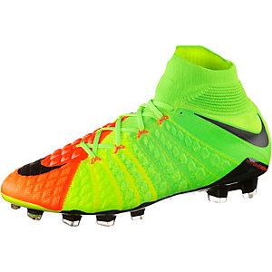 Nike HYPERVENOM PHANTOM III DF FG Fußballschuhe Herren neongrün/orange