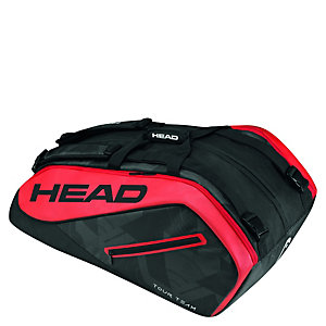 HEAD Tour Team 12er Monstercombi Tennistasche schwarz / rot