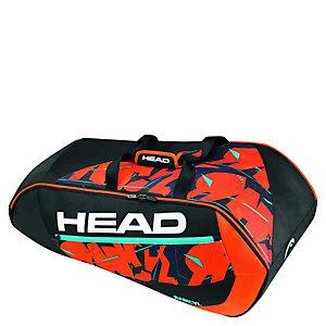 HEAD Radical 9er Supercombi Tennistasche schwarz / rot