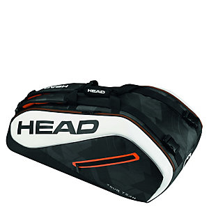 HEAD Tour Team 9er Supercombi Tennistasche schwarz / weiß