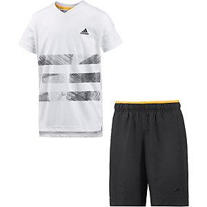 adidas Trainingsanzug Jungen weiß/schwarz