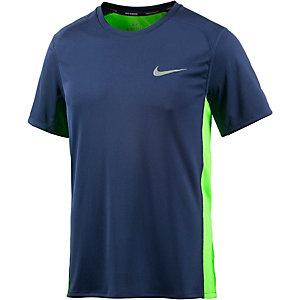 Nike Miler Laufshirt Herren blau/neongelb