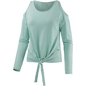 Mandala Off Shoulder Langarmshirt Damen mint