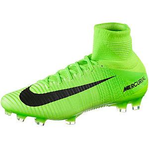 Nike MERCURIAL SUPERFLY V FG Fußballschuhe Herren neongrün/schwarz