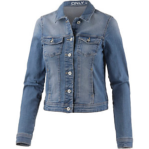 Only Jeansjacke Damen blue denim washed