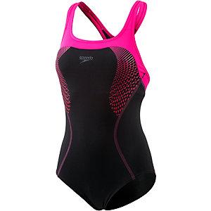 SPEEDO Fit Kickback Schwimmanzug Damen schwarz/pink