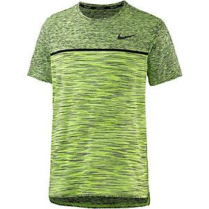 Nike Court Dry Challenger Tennisshirt Herren neongrün/schwarz