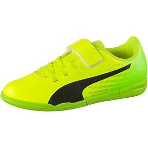 PUMA evoSPEED 17.5 IT V Jr Handballschuhe Kinder gelb/schwarz